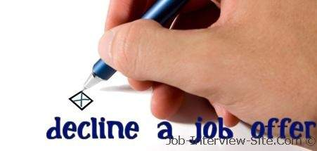 declining a job offer due to salary