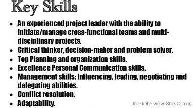 good job skills list
