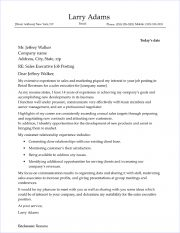 Executive Cover Letter Sample