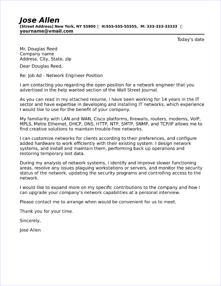 108-network-engineer-cover-letter Sample Cover Letter Template Free on samples or, modern resume, matching resume, microsoft resume, for executive assistant, for resume examples, for resume word, great resume,