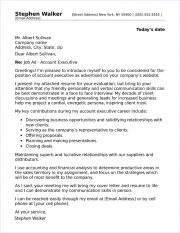 Account Executive Cover Letter Sample
