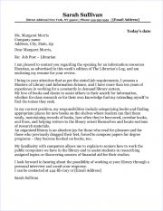Librarian Cover Letter Sample