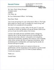 law enforcement cover letter samples