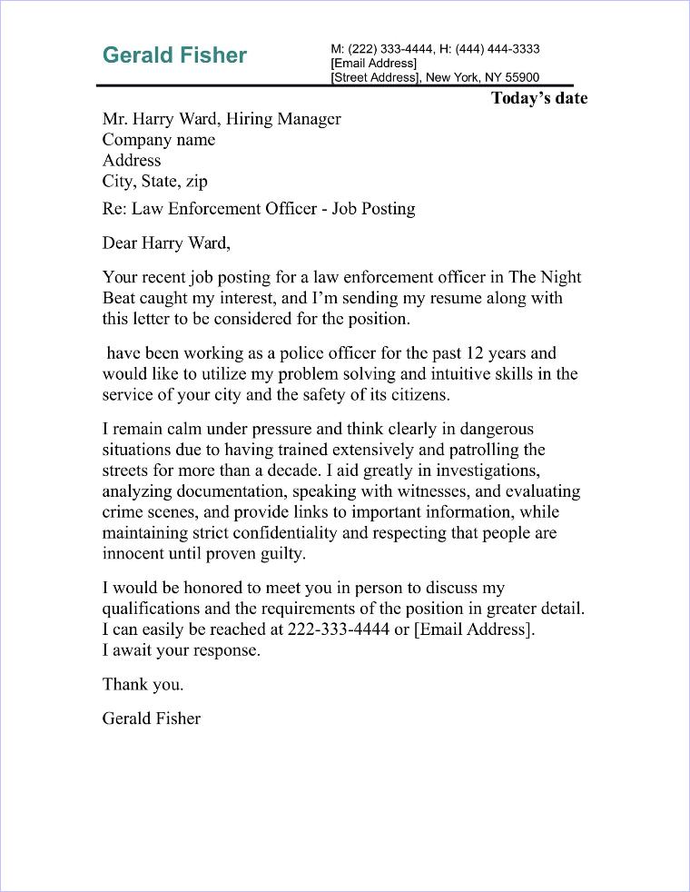 Legal Assistant Cover Letter Sample