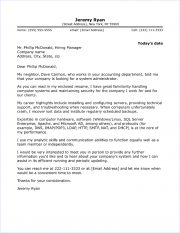 System Administrator Cover Letter Sample