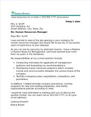 Human Resources Cover Letter Examples from www.job-interview-site.com