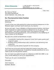 pharma sales cover letter