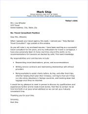 Attractive Travel Consultant Cover Letter