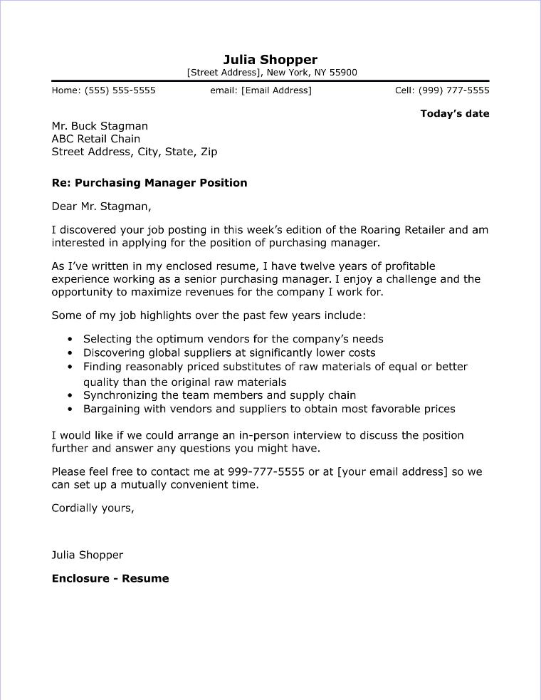 Customer Sales Representative Cover Letter Sample