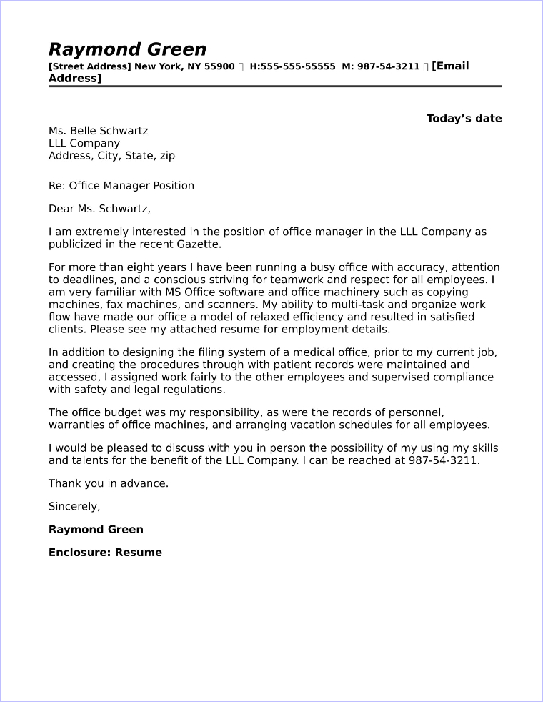 office manager cover letter office manager cover letter sample 23831 | 31 office manager cover letter