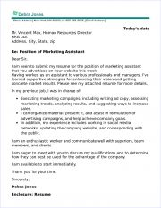 Cover Letter Examples For Marketing Jobs from www.job-interview-site.com