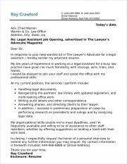 legal assistant cover letter sample - Legal Assistant Cover Letter Sample