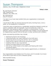 Volunteer Cover Letter Sample from www.job-interview-site.com