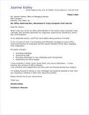 sample office admin cover letter