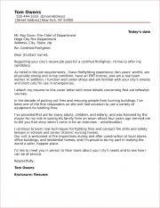 sample firefighter cover letters