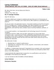 IT Manager Cover Letter Sample