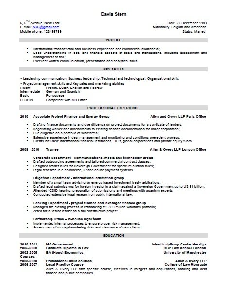 combination resume format - Combination Resume Template