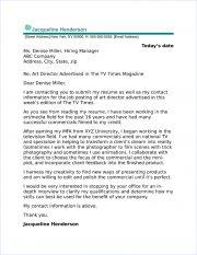 Art Director Cover Letter Sample