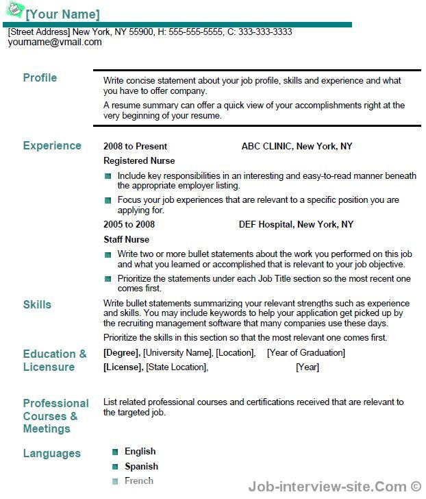 Rn Resume Example Resume Format Download Pdf