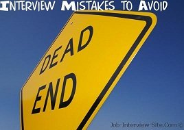 20 Common Job Interview Mistakes to Avoid: Biggest Interview Mistakes