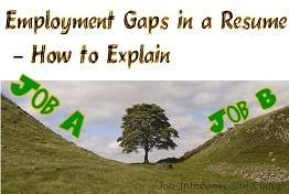 employmen gaps in a resume how to explain gaps in employment history