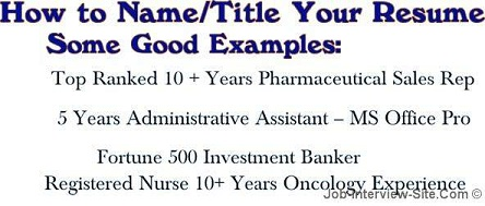 resume name what to name your resume - Resume Title Examples