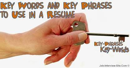 resume key words and phrases examples key words to use in a resume