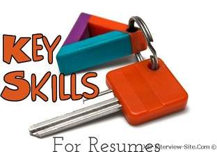 resume skills list of skills for resume sample resume job skills examples - Resume Key Skills And Competencies