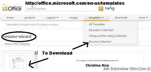 resume ms word format