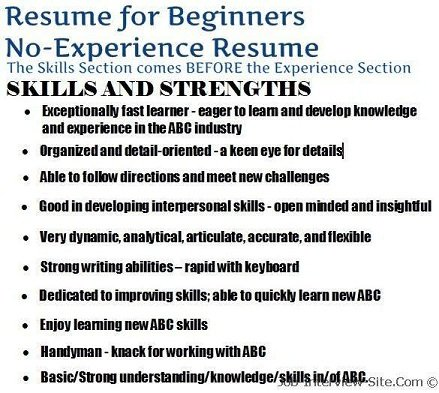 the no experience resume style how to create a solid resume with no experience - Skills Resume