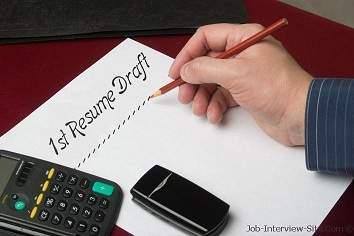creating a resume draft