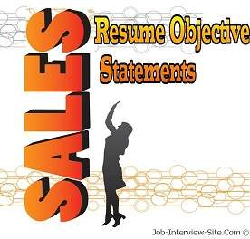 sales resume objective examples