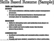sample types of job skills per profession - Sample Skills Resume