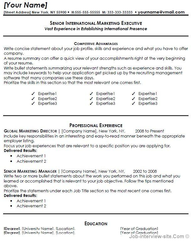 marketing resume thumb marketing resume - Resume Examples Word