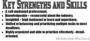key strengths resume