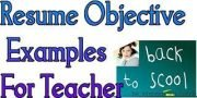 Teacher: Resume Objective Statement for Teachers
