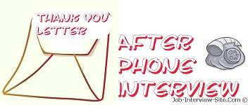 Phone Interview: Thank You letter after Phone Interview- Samples