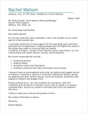Travel agent cover letter sample travel agent cover letter thecheapjerseys Choice Image