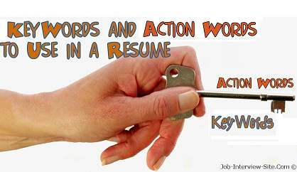 Using Action Verbs Keywords