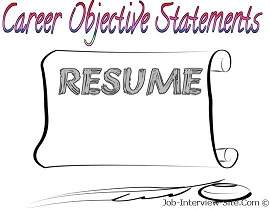 job objectives resumes