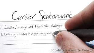 Career Statement Examples Of Objectives Goals